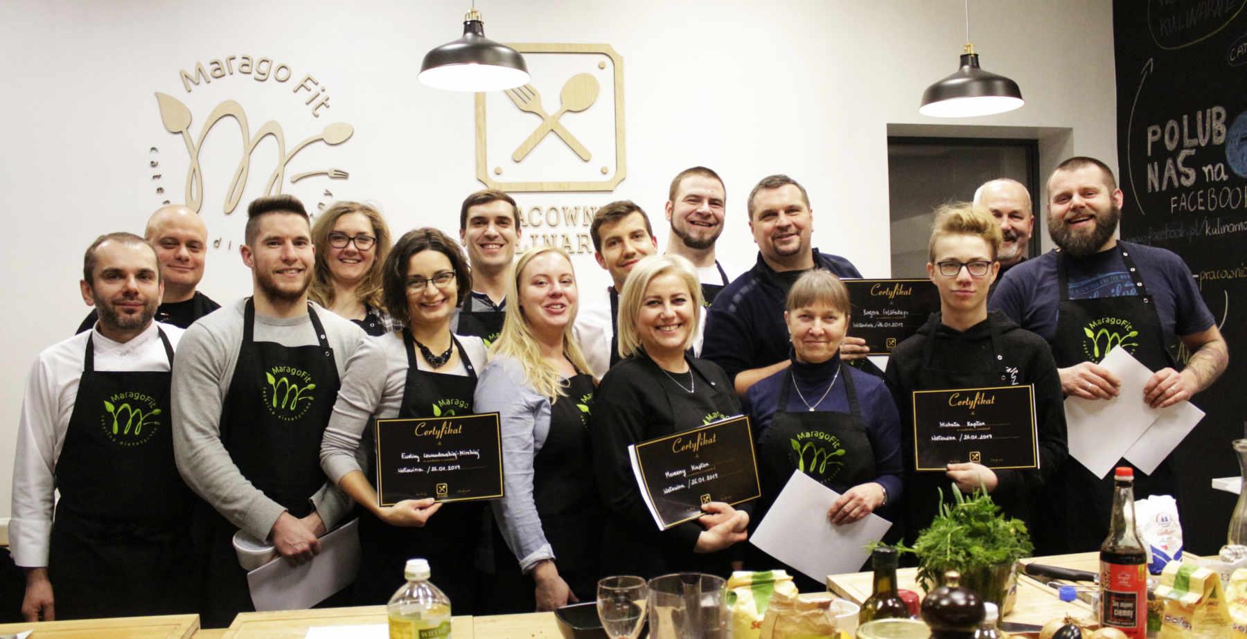Nasi uczestnicy, jak zawsze uśmiechnięci i zadowoleni z efektów ponad 3 h pracy.